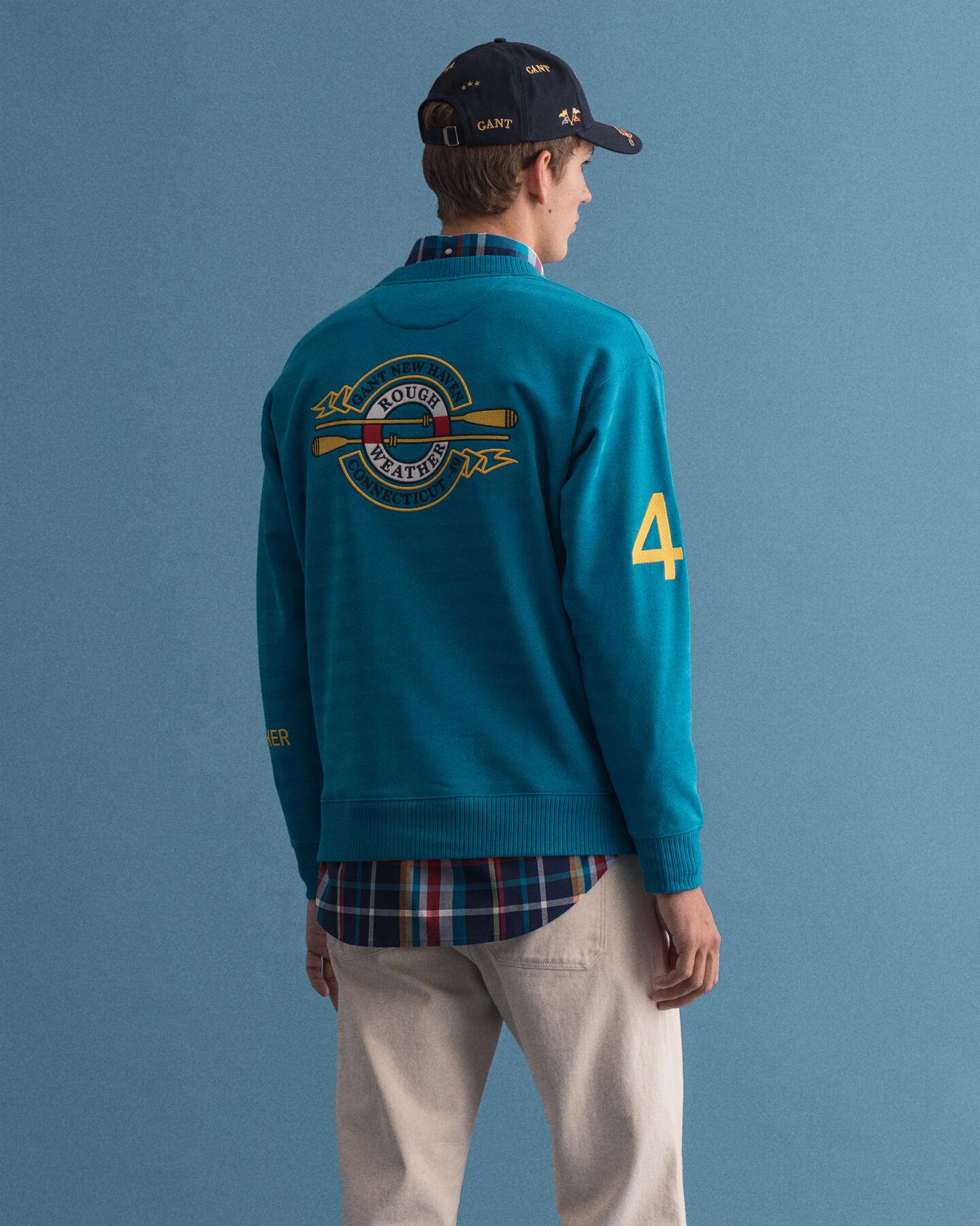 Rough Weather Graphic rundhalsad sweatshirt