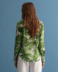 Palm Breeze mönstrad skjorta i bomull och silke