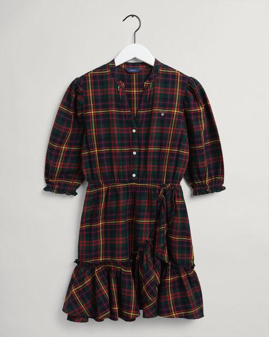 Teen Girls skotskrutig flanellklänning