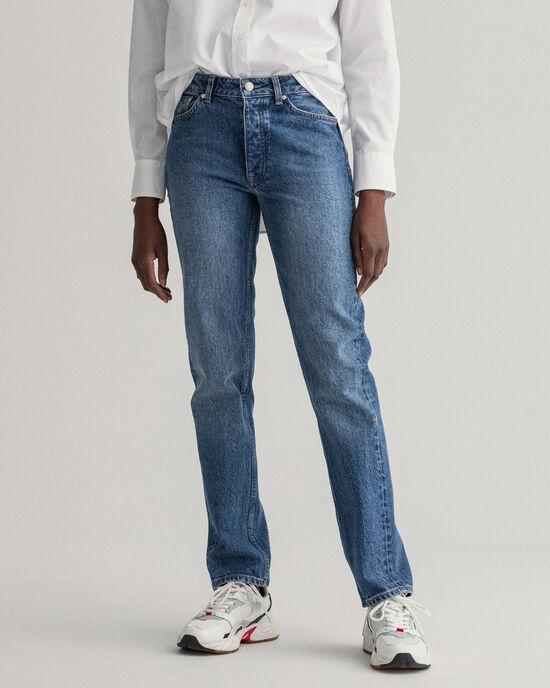 Hayle regular fit jeans med knappgylf