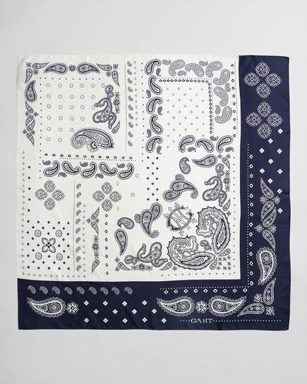 Paisleymönstrad silkesscarf