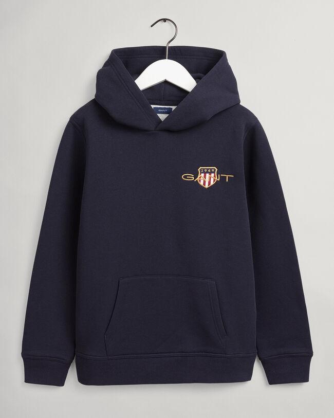 Teens Archive Shield broderad hoodie
