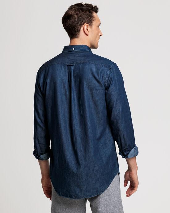 Regular Fit Indigofärgad skjorta