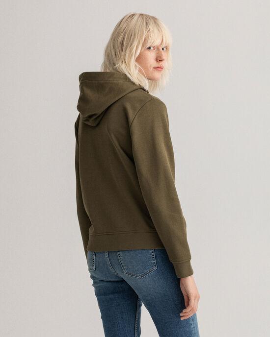 Archive Shield hoodie med hellång dragkedja
