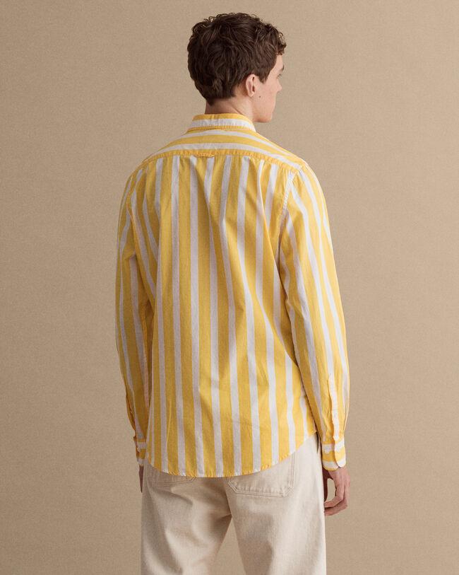 Slim fit randig skjorta