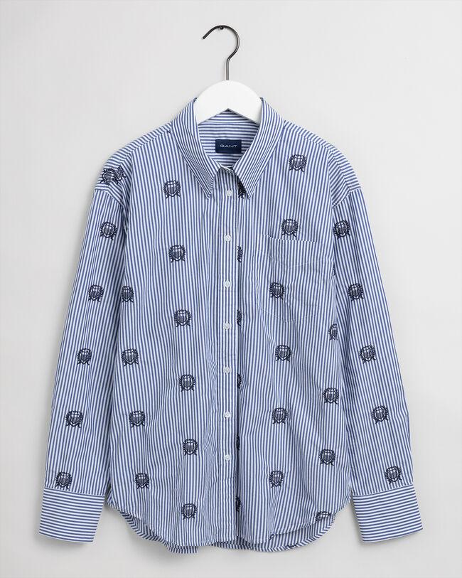 Relaxed fit Crest randig skjorta