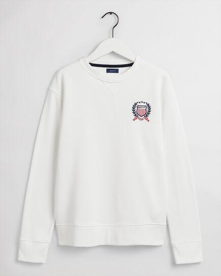 Teen Boys Medium Crest rundhalsad sweatshirt