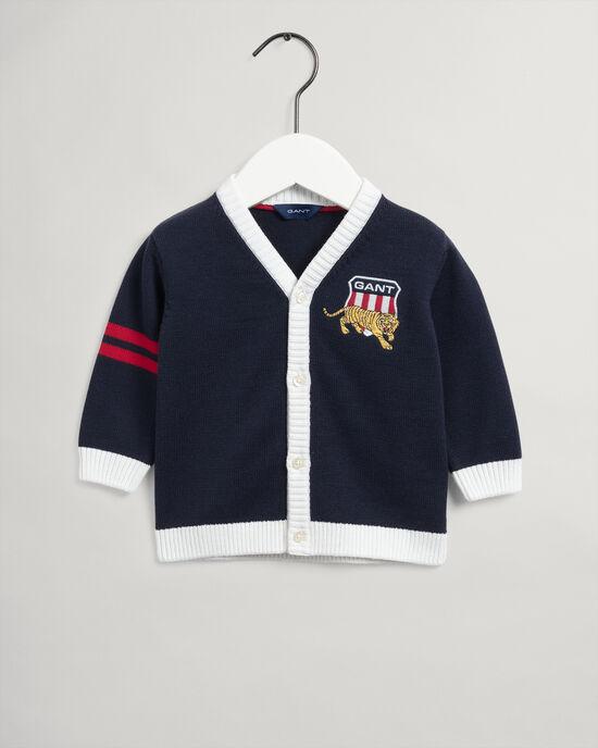 Baby Boy Tiger Shield cardigan