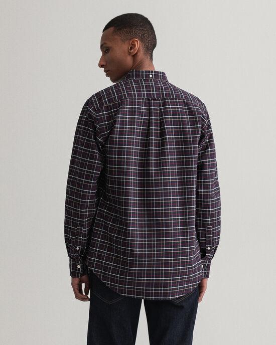 Regular fit Beefy rutig oxfordskjorta