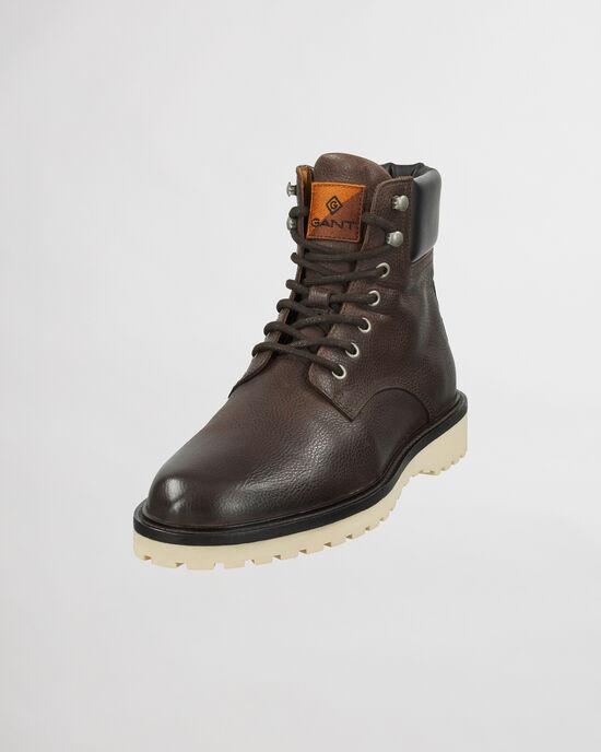 Roden mellanhöga boots med snörning