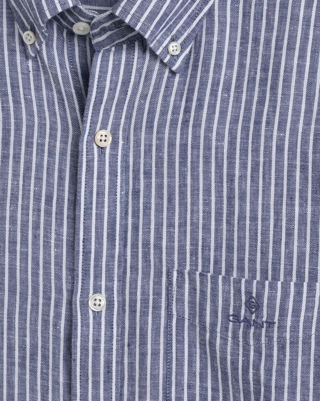 Regular Fit Randig linneskjorta