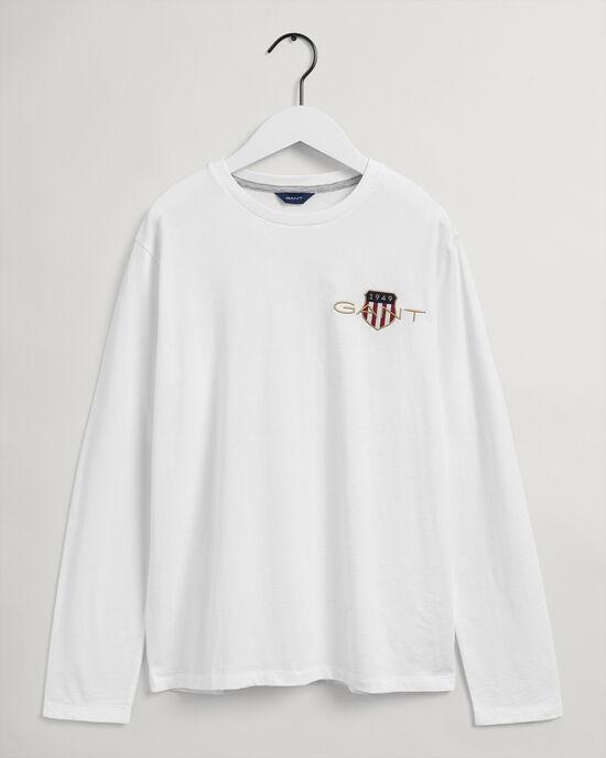 Teens Medium Archive Shield långärmad T-shirt