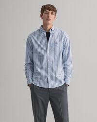 Regular fit Tech Prep™ oxfordskjorta med marina ränder