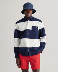 Relaxed fit skjorta med blockfärgade paneler