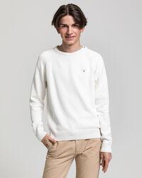 Teen Boys Casual rundhalsad tröja i bomull