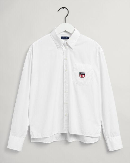 Teen Girls Retro Shield skjorta