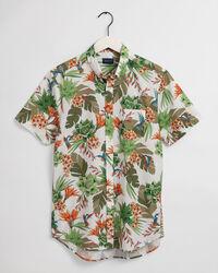 Regular fit Humming Garden kortärmad mönstrad skjorta