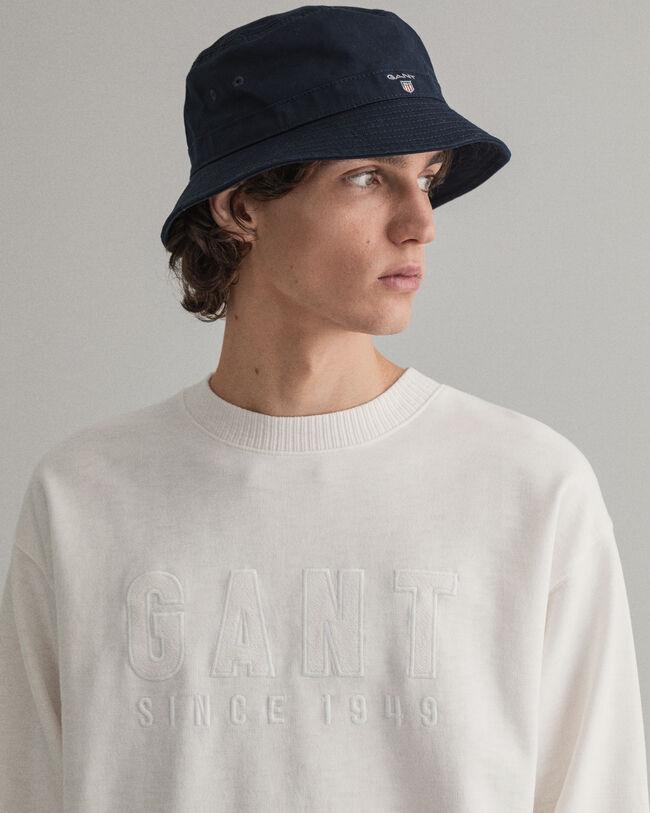 Logo sweatshirt med rund halsringning och logotyp ton i ton