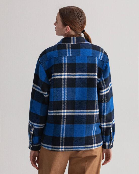 Skotskrutig skjortjacka