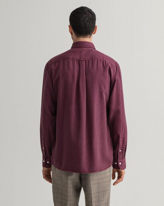 Regular fit Pure Prep plaggtvättad lyocellskjorta
