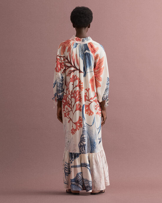 Seashell mönstrad klänning