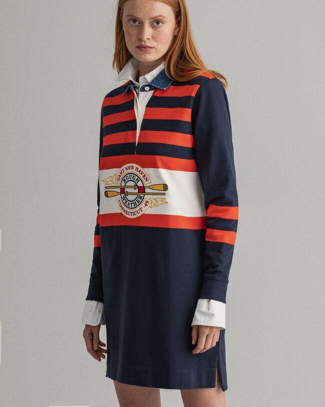 Rough Weather randig Heavy Rugger-klänning
