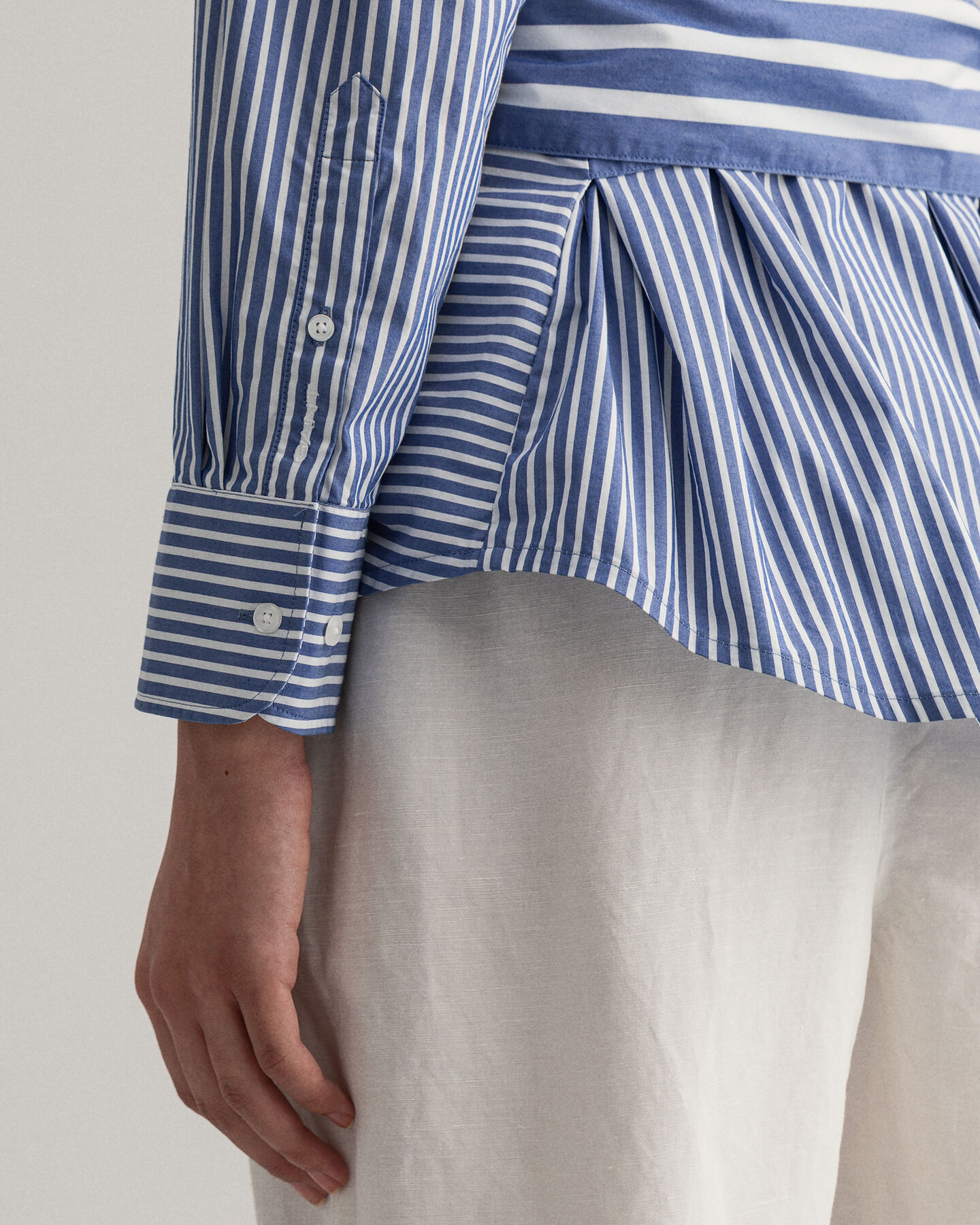 Tech Prep™ poplinskjorta med blandade ränder