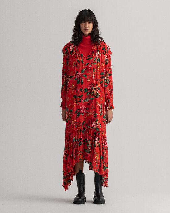 Rose mönstrad maxiklänning