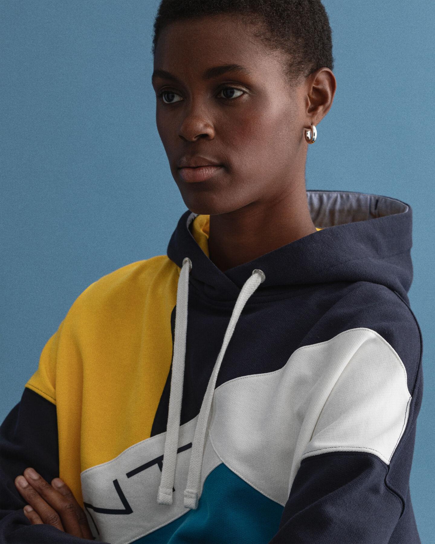 Rough Weather blockfärgad hoodie