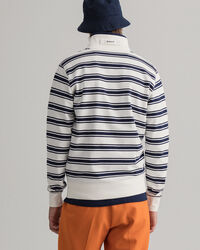 Tech Prep™ randig tröja med halv dragkedja