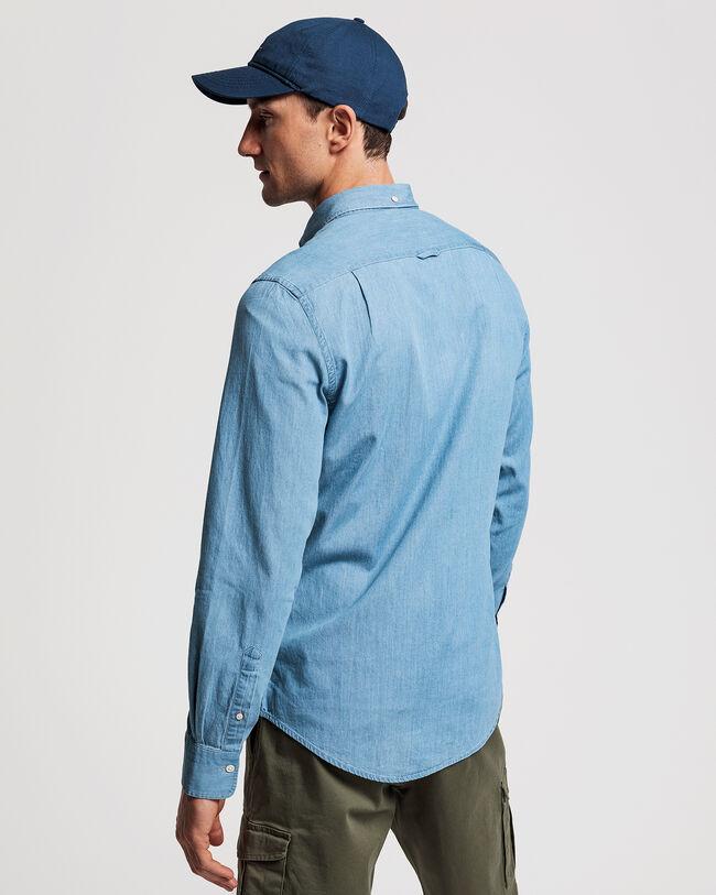 Slim Fit Indigofärgad skjorta