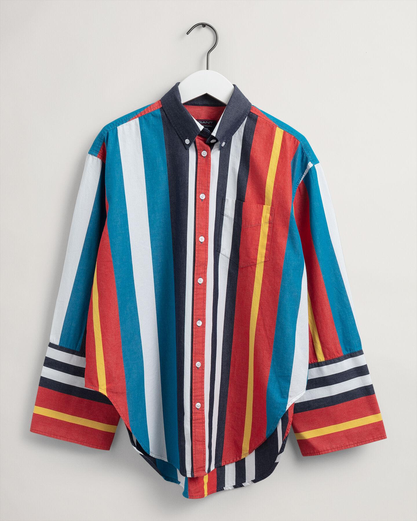 Rough Weather randig skjorta