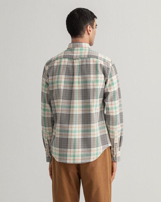 Regular fit kraftig rutig twillskjorta