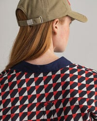 Regular fit skjorta i bomullsvoile med geometriskt tryck