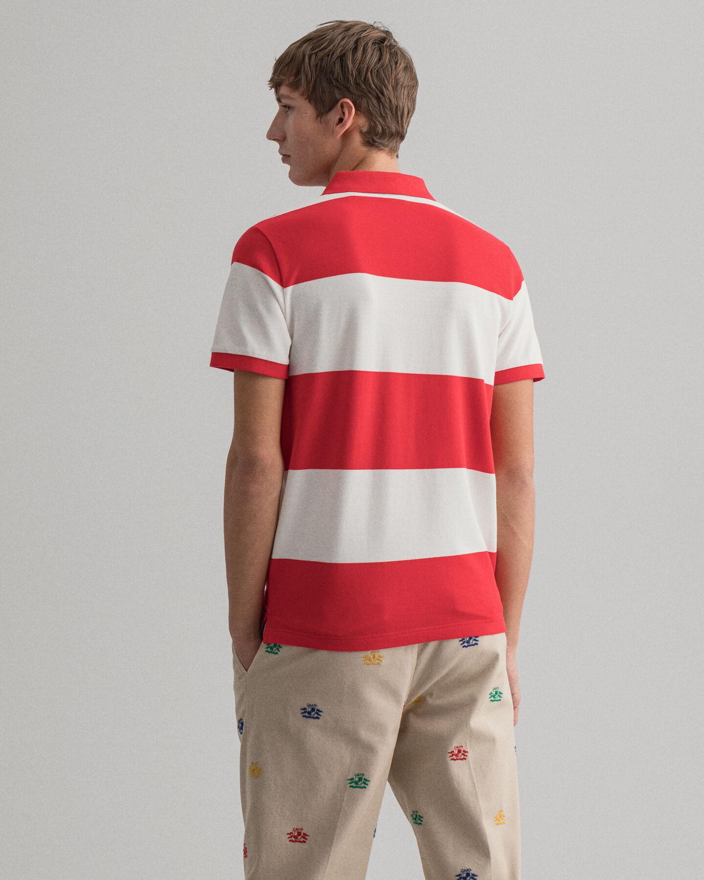 Flag Crest Barstripe Piqué Polo Shirt