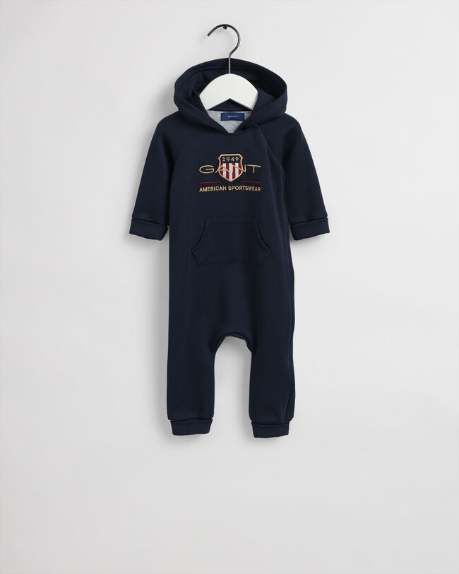 Baby Boy Archive Shield hoodieoverall