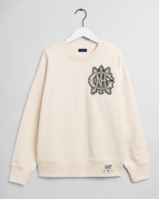 Teens Monogram sweatshirt med rund halsringning