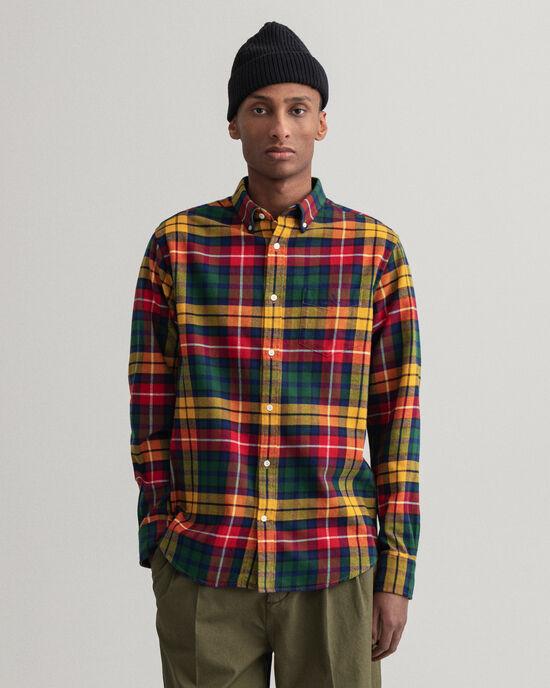 Regular fit rutig flanellskjorta