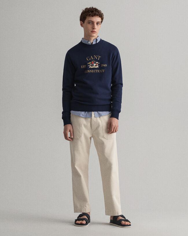 Flag Crest rundhalsad sweatshirt