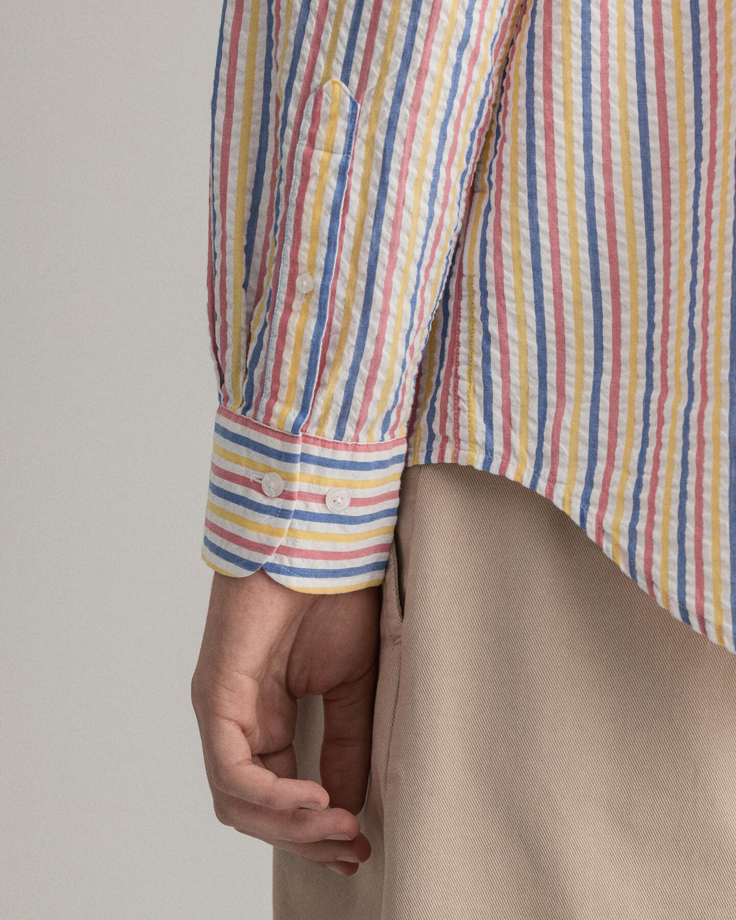 Regular fit Tech Prep™ randig skjorta i bäckebölja