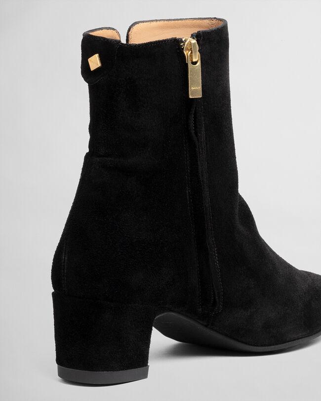 Ellar mellanhöga boots med dragkedja