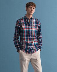 Regular fit Tech Prep™ skotskrutig oxfordskjorta