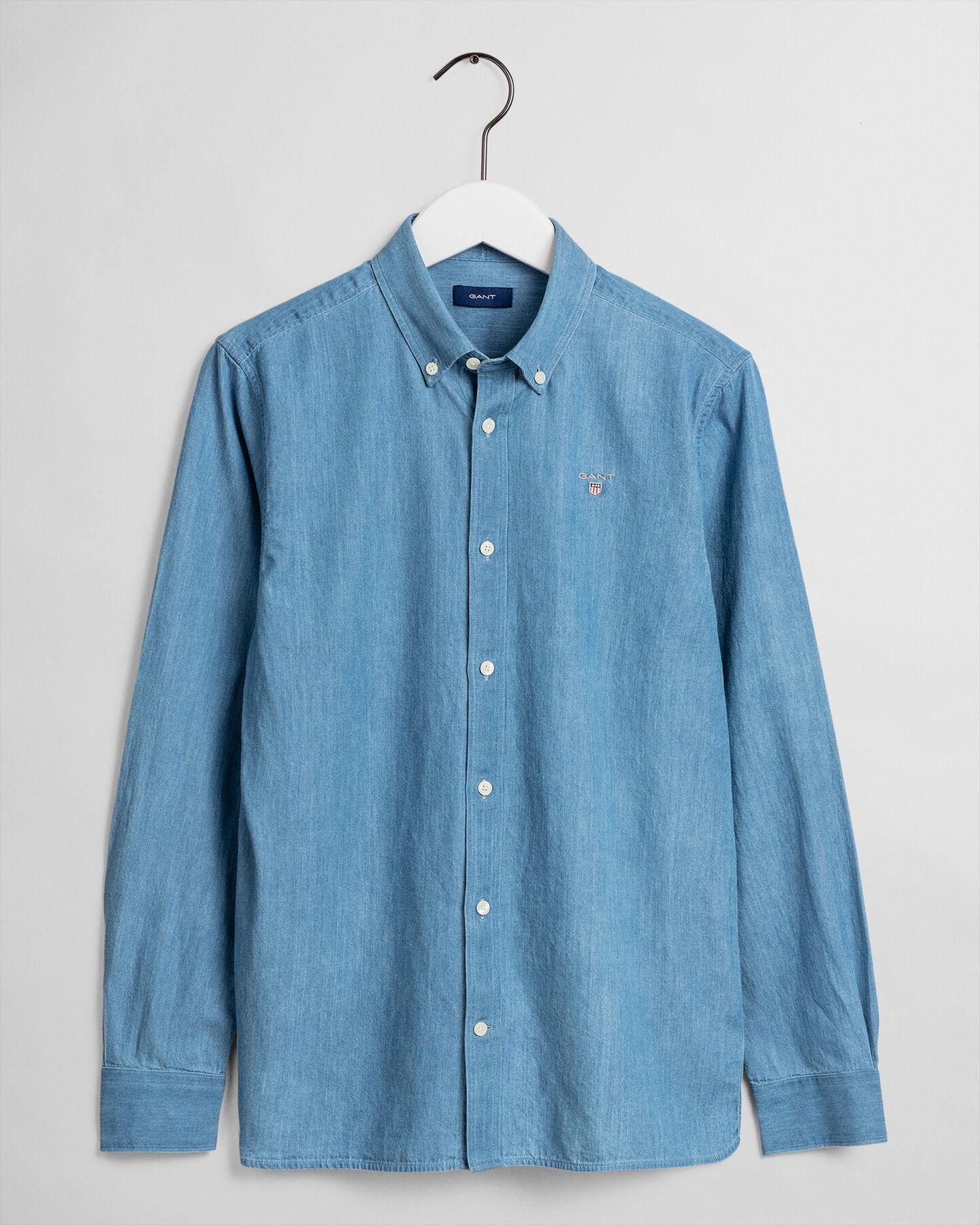 Teen Boys Indigofärgad skjorta
