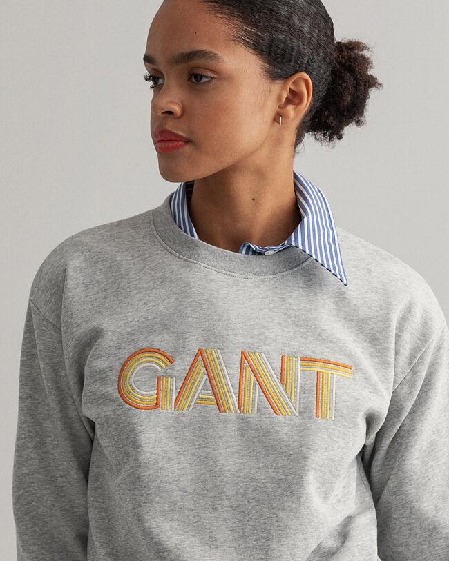 Gradient Graphic rundhalsad sweatshirt