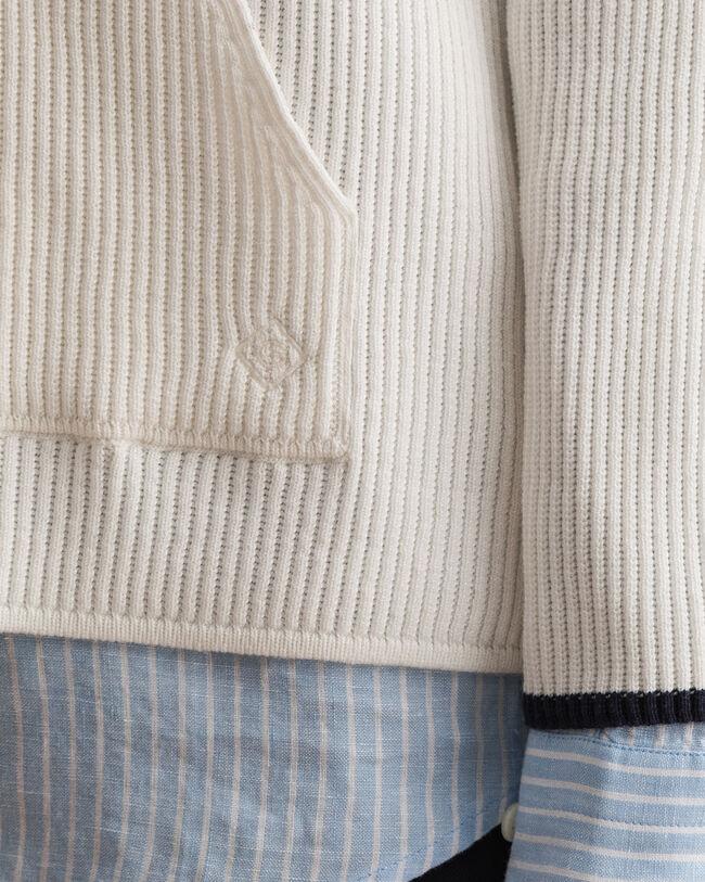Pure Prep ribbstickad hoodie