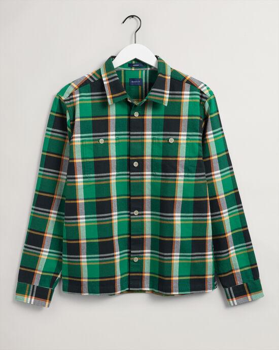 Bold skotskrutig skjortjacka