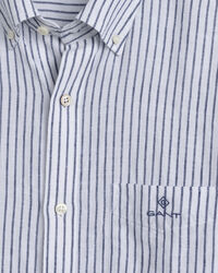Regular Fit Kortärmad randig linneskjorta