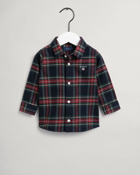 Baby Boy skotskrutig flanellskjorta