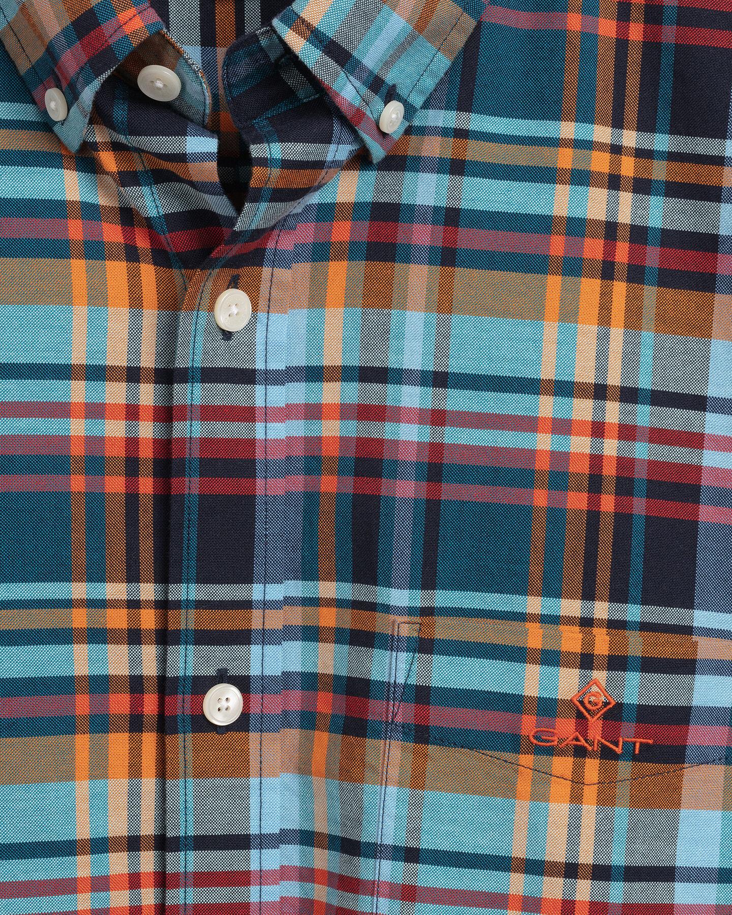 Regular Fit skotskrutig oxfordskjorta