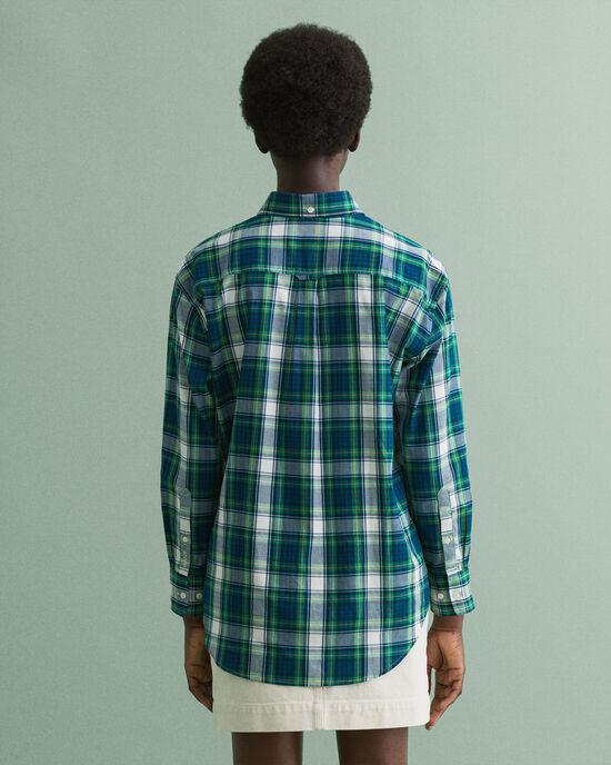 Relaxed fit Windblown rutig oxfordskjorta